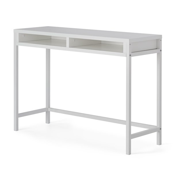 Mainstays Sumpter Park Open Shelf Wall Desk White Walmart Com In 2020 Open Shelving Wall Desk Wall Shelves