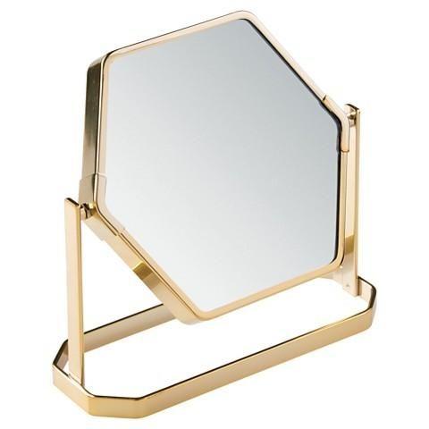 Gold Hexagon Swing Vanity Mirror Gold Home Decor Gold Vanity