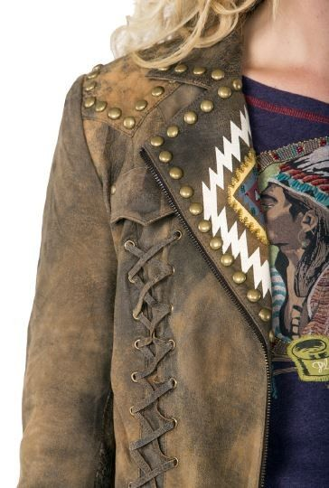 Double D Ranch Fall/Winter Chief Eagle Head Leather Biker Jacket!