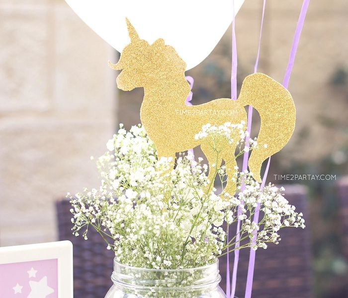Babies breathe unicorn centerpiece from a starry