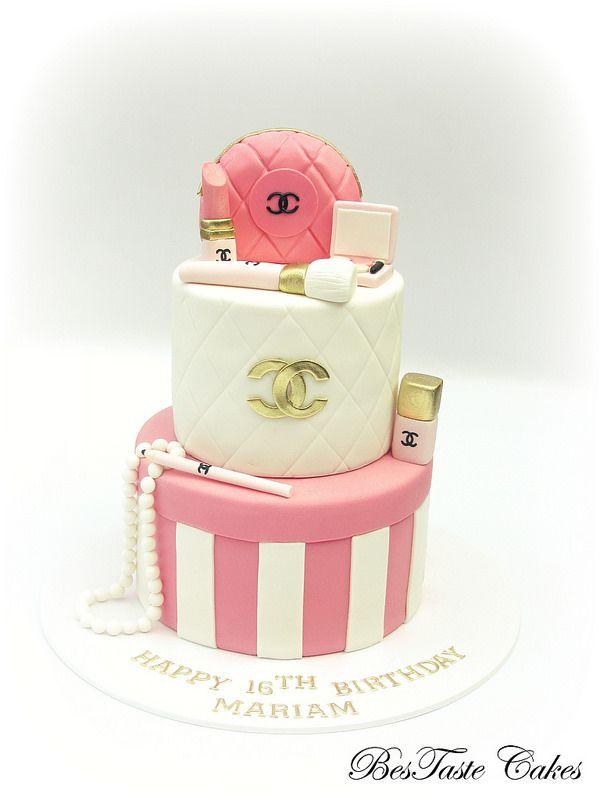 Pink White Gold Chanel Cosmetics Cake Chanel Kuchen Kuchen Stil Und Ausgefallene Torten