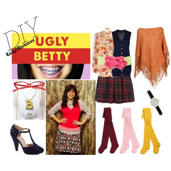 """""""Ugly Betty DIY Halloween costume."""" by g-vi on Polyvore"""