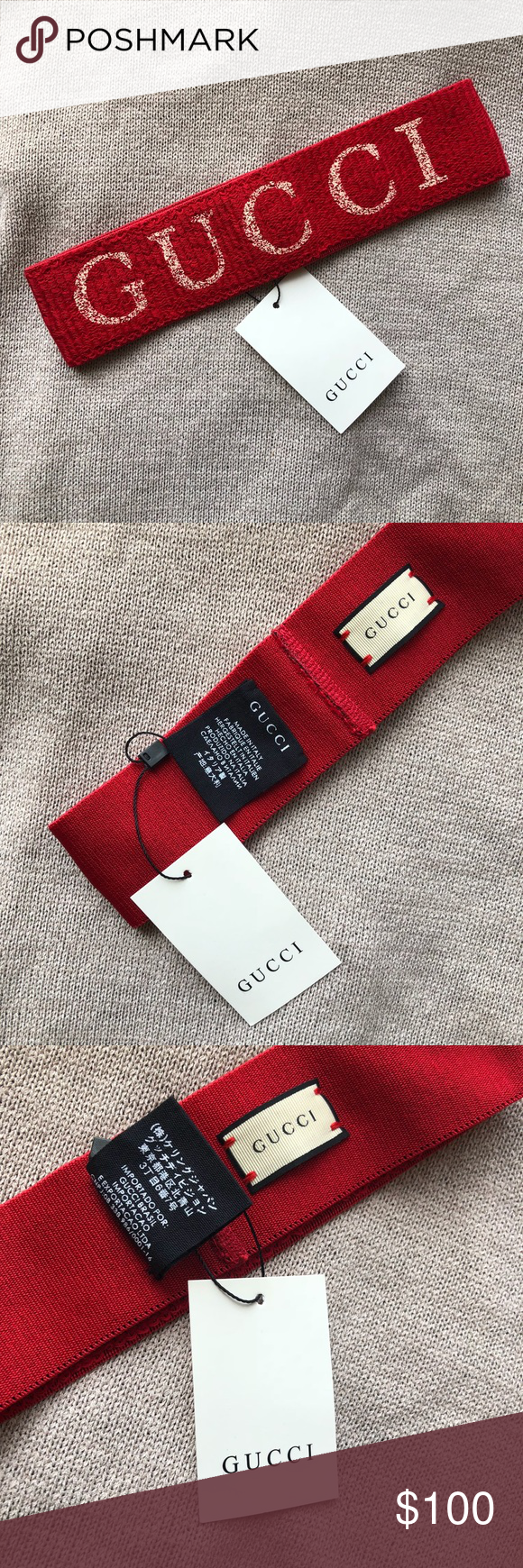 88c950a0240 New Gucci Elastic Headband V0163 Newww Gucci Accessories Hair Accessories.  New Gucci Elastic Stripe Headband with tags .