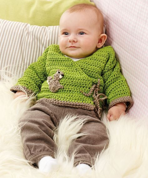 Wickeljacke Für Babys Häkelanleitung Via Makeristde Baby Pulli