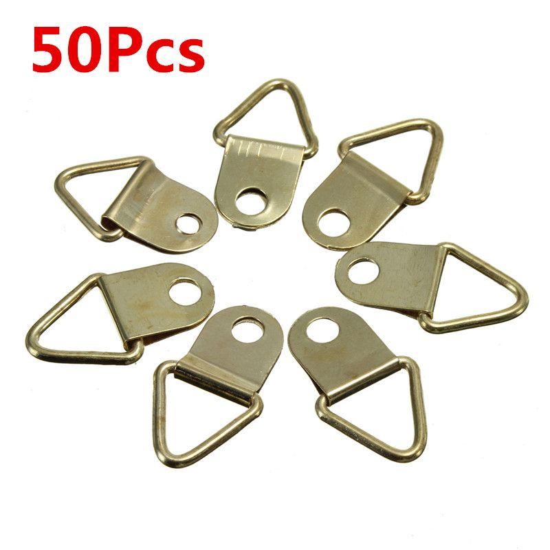 50pcs triángulo cobre foto de la pared marco de montaje de anillo de ...