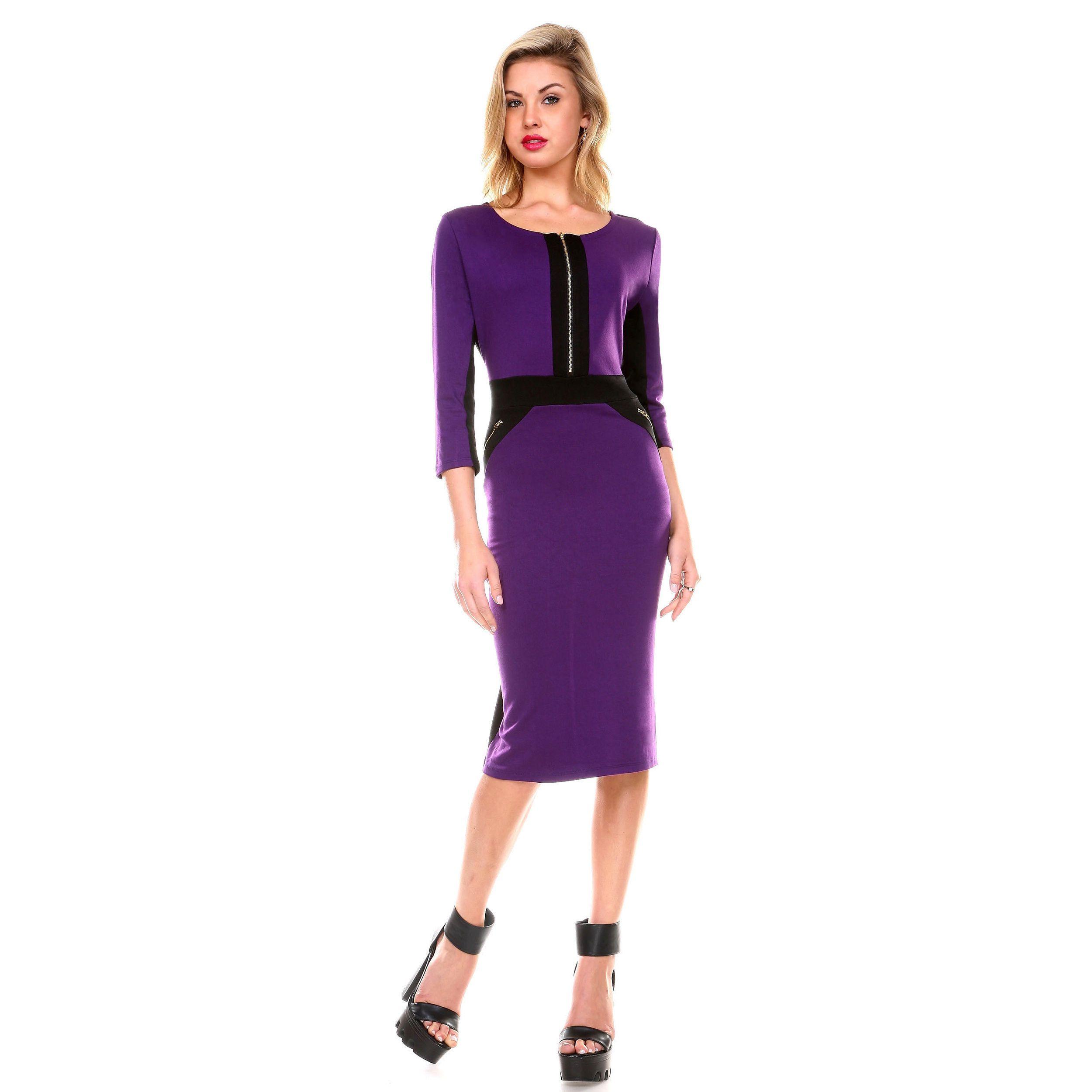 Stanzino Women\'s 3/4 Sleeve Casual Short Dress