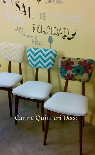 Silla retro americana tapizada tela y eco - Cuero para tapizar sillas ...