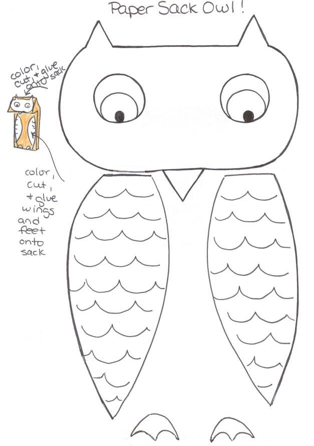 Camp Cindythings Make a Paper Sack Owl Puppet
