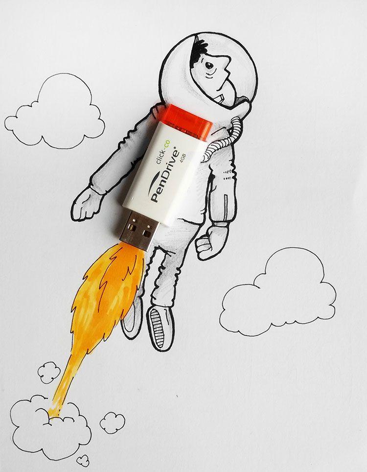 Adorables Caricaturas Que Interactuan Con El Mundo Real Creadictos Dibujos Divertidos Produccion Artistica Estilos De Arte