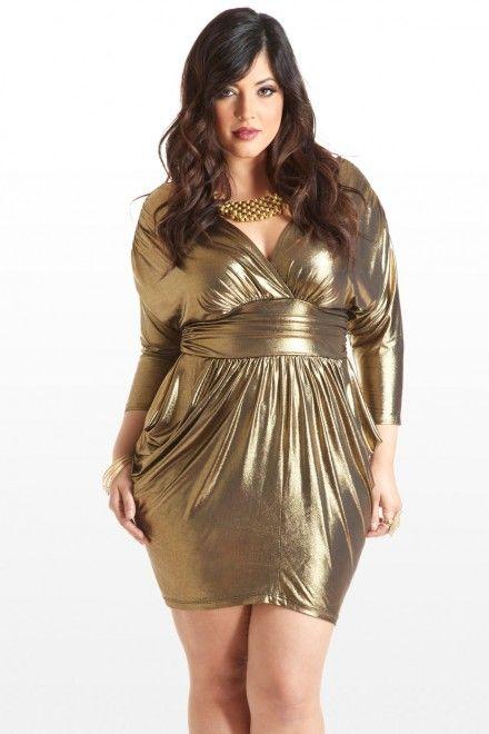 Plus Size Take a Shine Metallic Dress