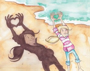 """SOLD: """"My Friendly Giant, Playing Along the Cliff Walk"""" Pages 33-34"""