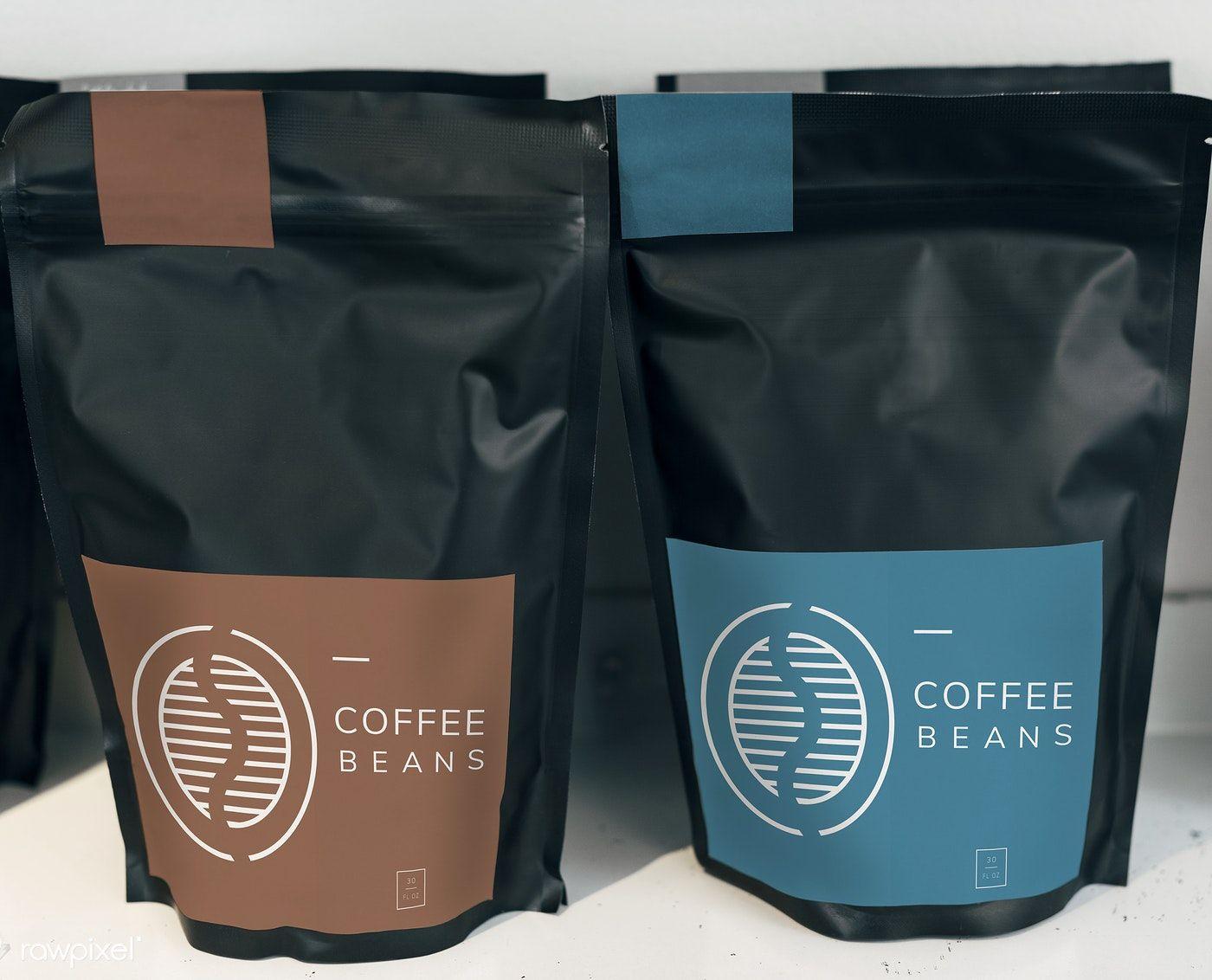 Coffee Bean Bag Mockup Design Free Image By Rawpixel Com Coffee Bean Bags Bag Mockup Coffee Beans