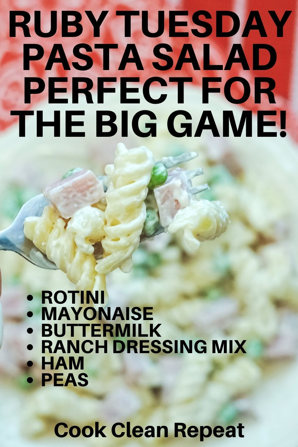 Copycat ruby tuesday pasta salad is a whole meal in a big