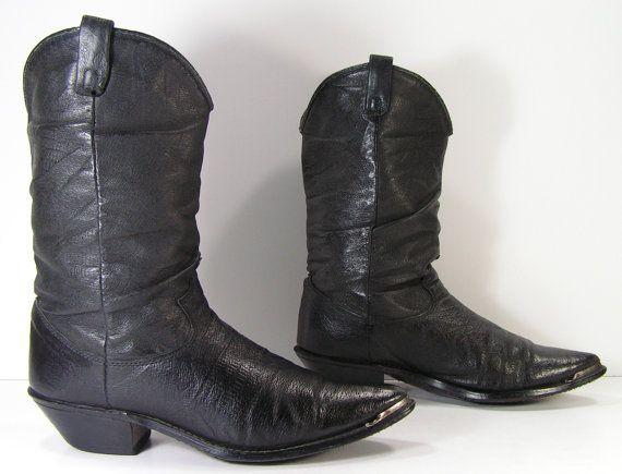 54c698bffba Dingo slouch cowboy boots womens 8.5 b m black leather western ...