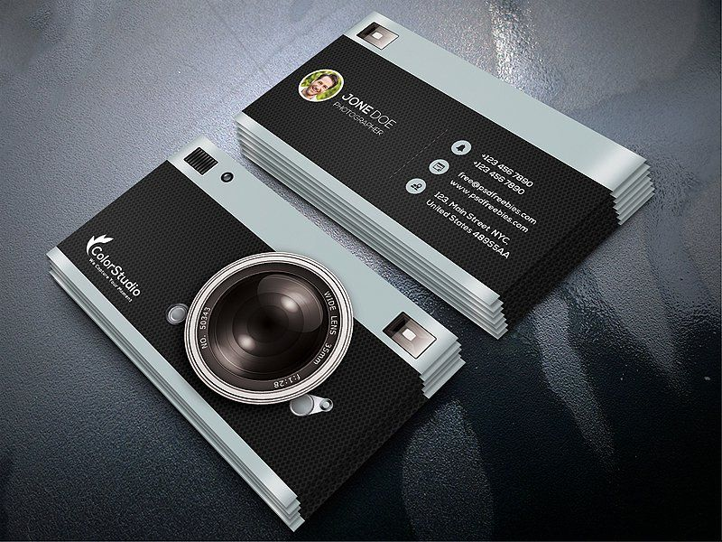 Photography Business Card Template PSD | ahmad Ullah | Pinterest ...