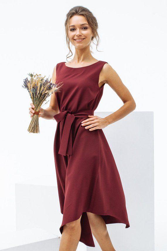0f9f8851fb Burgundy dress