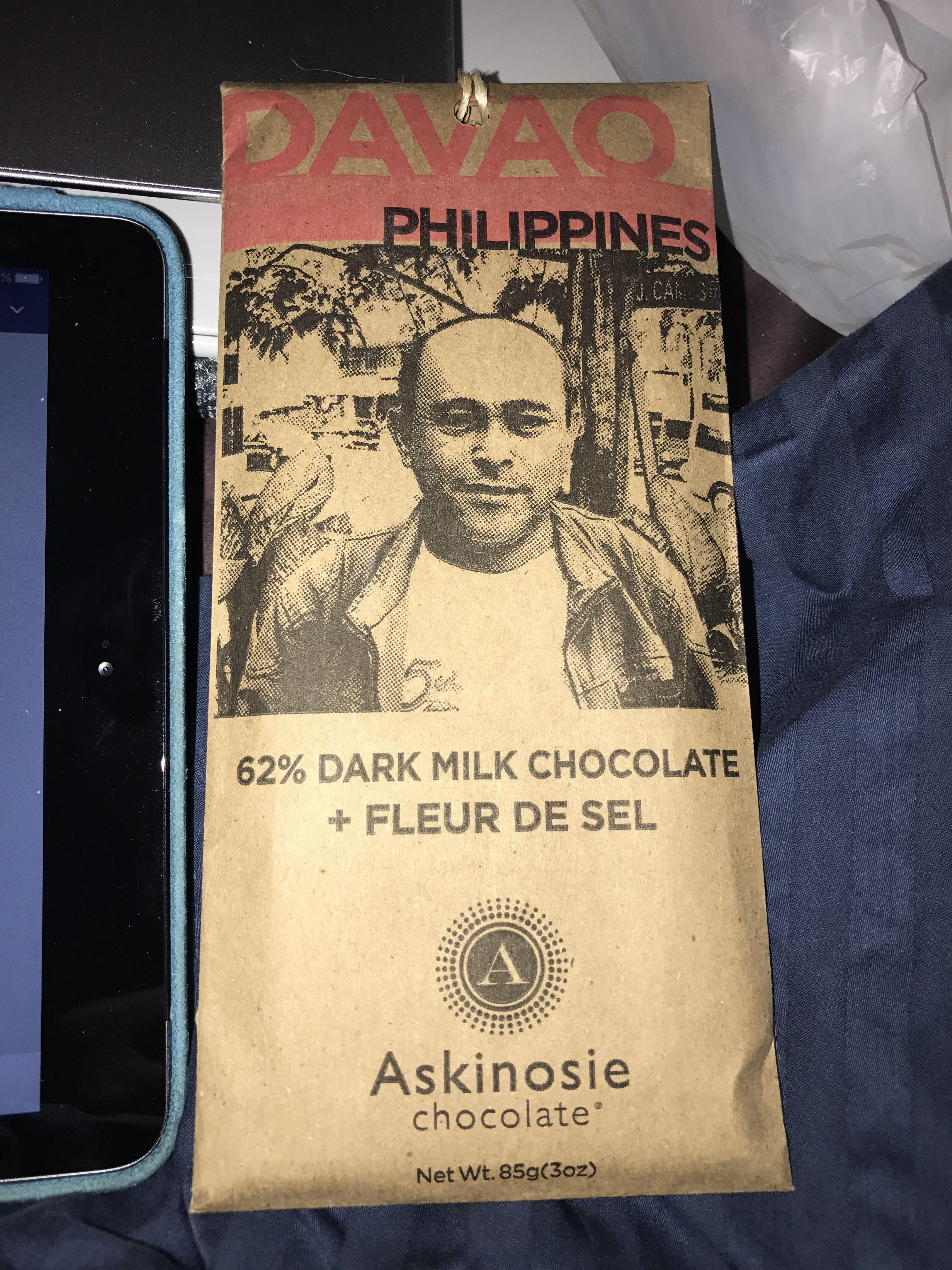 Askinosie chocolate davao Philippines 62% dark milk chocolate + ...
