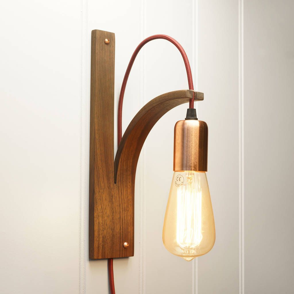 Wall bracket light wooden wall lights wall brackets and wooden are you interested in our wooden wall light bracket with our vintage bulb and cable mozeypictures