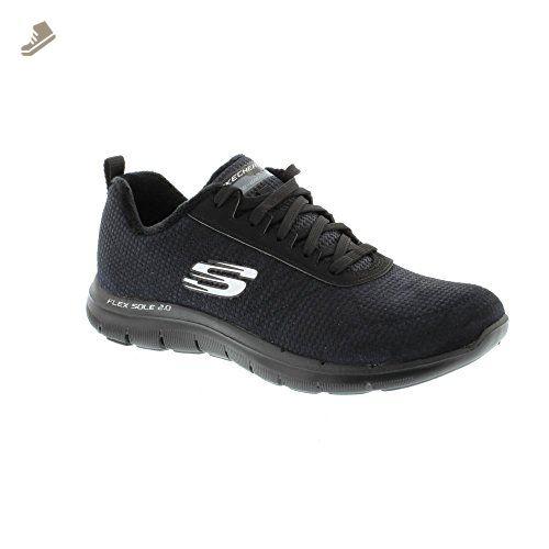 5fccbf4ec6ee2 Skechers 99999986 Flex Appeal 2.0 Shadow Play - Black (Leather ...