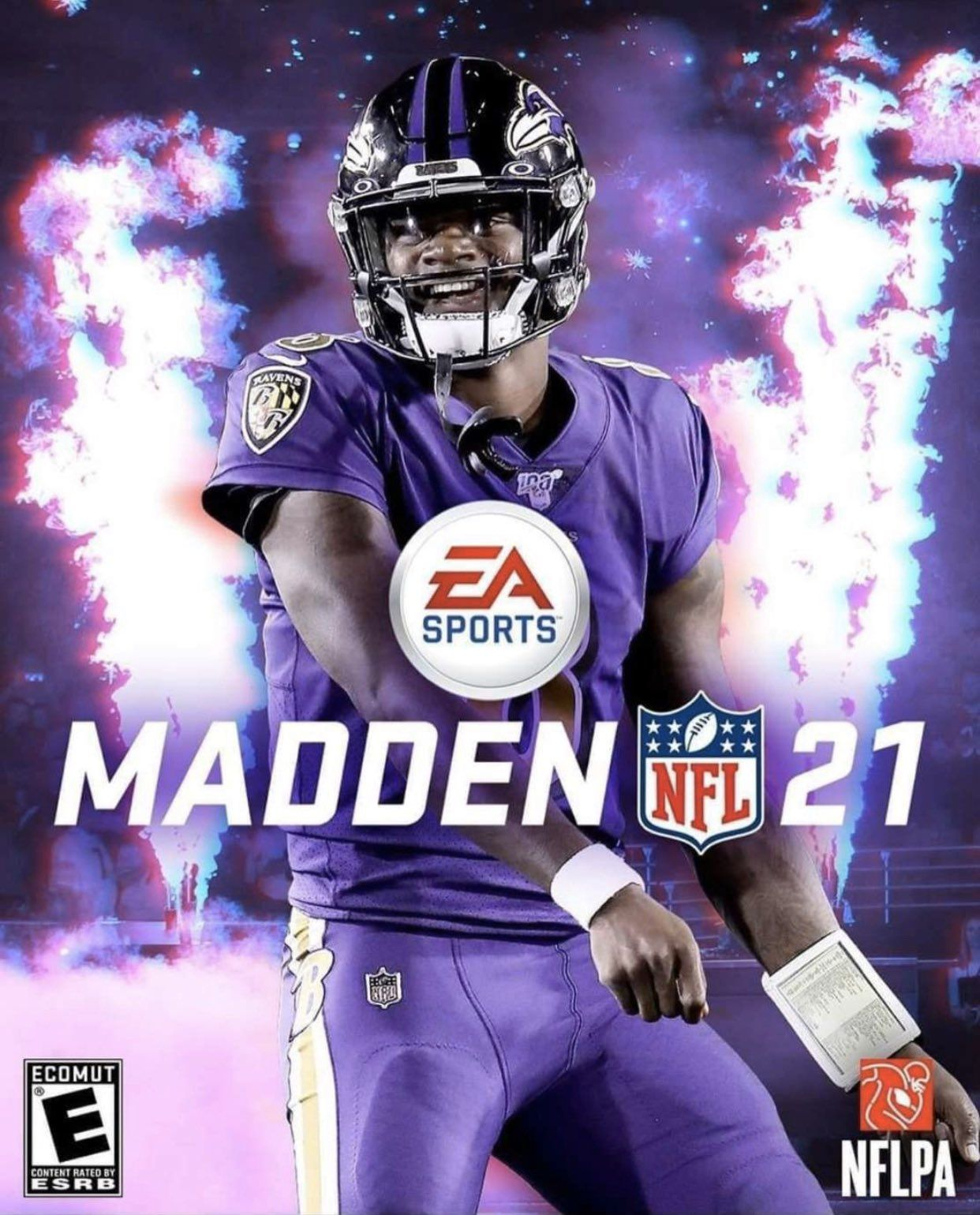 Lamar Jackson Is Madden 21 Cover Athlete And Do You Believe Cover Curse In 2020 Baltimore Ravens Football Ravens Football Nfl Football Art