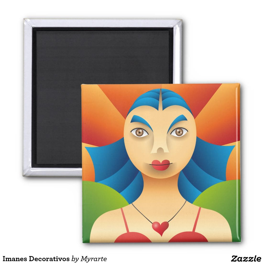 Imanes Decorativos 2 Inch Square Magnet, home decor, decoración. Producto disponible en tienda Zazzle. Decoración para el hogar. Product available in Zazzle store. Home decoration. Regalos, Gifts. Link to product: http://www.zazzle.com/imanes_decorativos_2_inch_square_magnet-147515552132843858?CMPN=shareicon&lang=en&social=true&rf=238167879144476949 #imanes #magnets