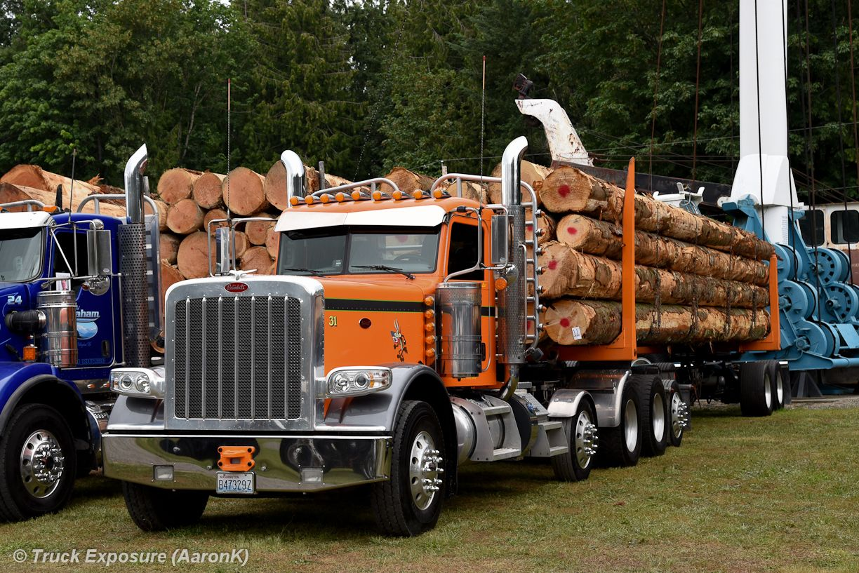 Peterbilt Custom 379 Loaded With Logs Peterbilt Trucks Heavy