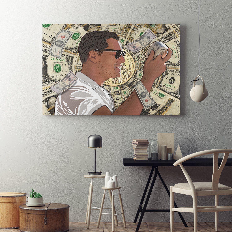 Money Roll Wolf Of Wall Street Canvas Art This High Quality Abstract Canvas Wall Art Money Roll From The Hustl Parejas Tumblr Fotos Pinturas Disenos De Unas