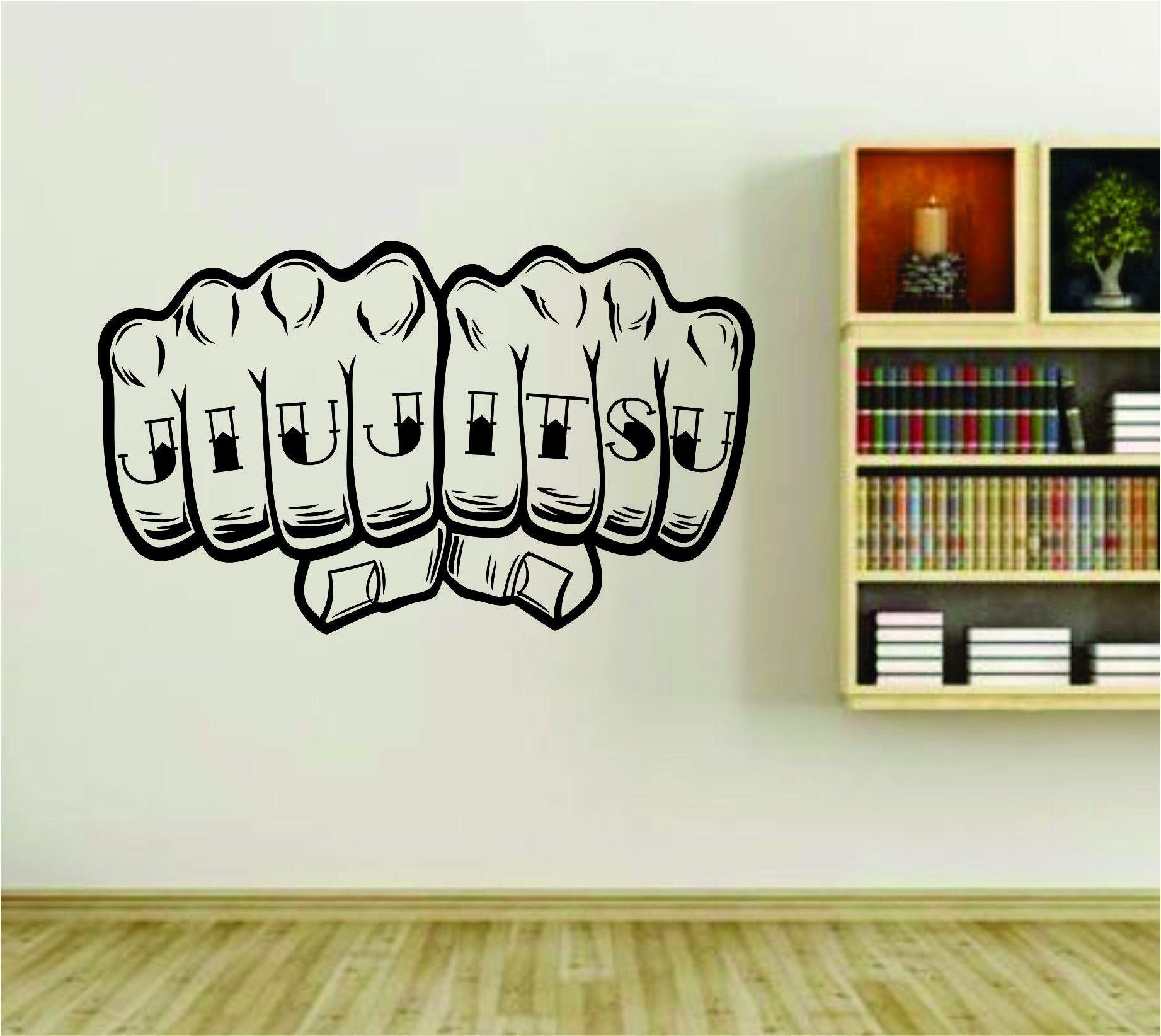 Jiu Jitsu Knuckle Tattoo Hand Vinyl Wall Decal Sticker Car