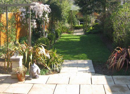 small garden design landscape gardening wimbledon south london - Garden Design Long Narrow Plot