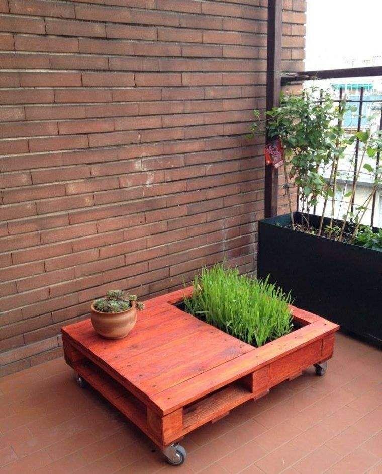 jardini re en palette de bois sur roulettes et bricolage de meuble pour ext rieur table de