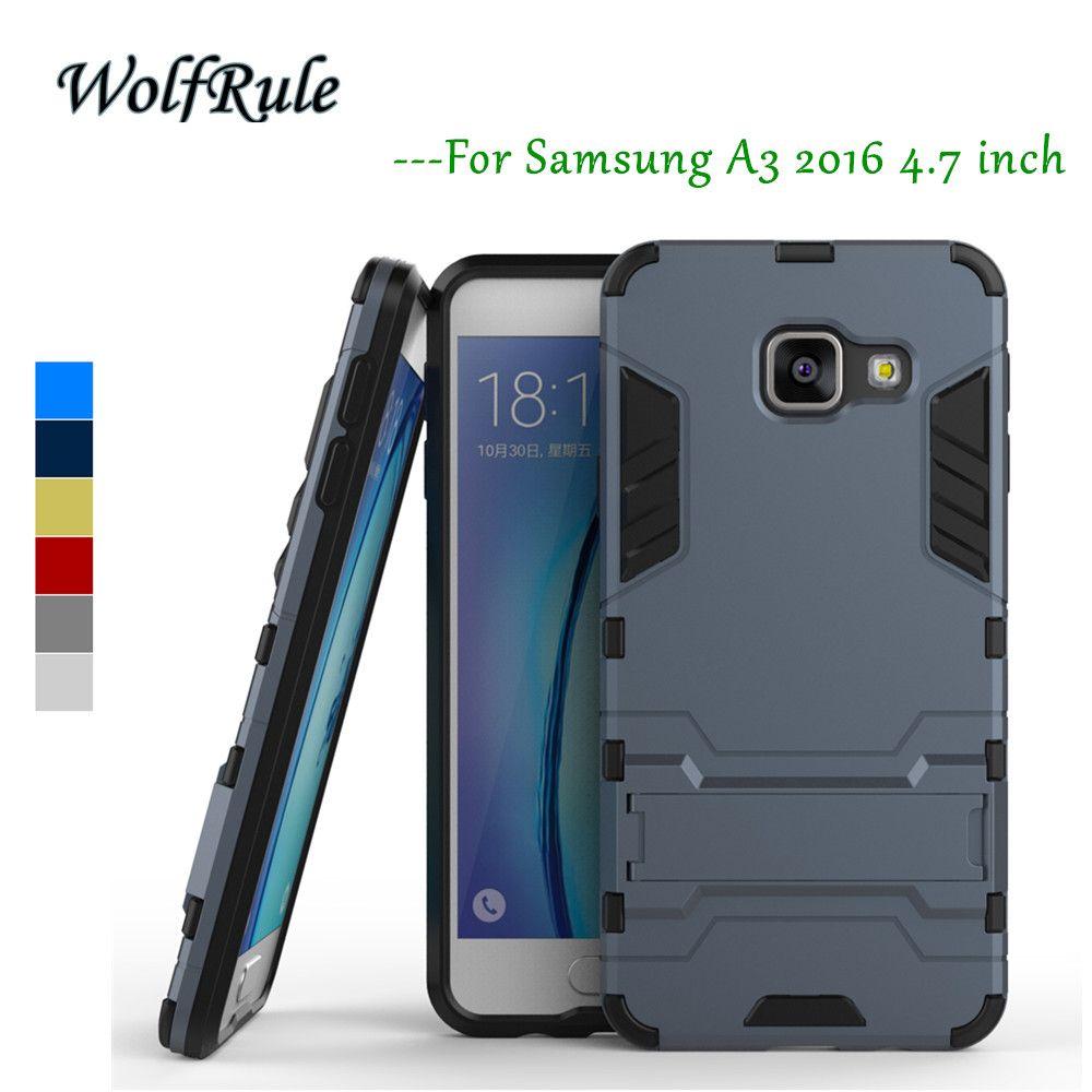 Case 대한 samsung galaxy a3 2016 커버 안티 노크 실리콘 + 플라스틱 대한 samsung galaxy a3 2016 case a310f 대한 samsung a3 2016>