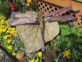 repurpose ceiling fan dragonfly glows in the dark, crafts, gardening, repurposing upcycling, wall decor