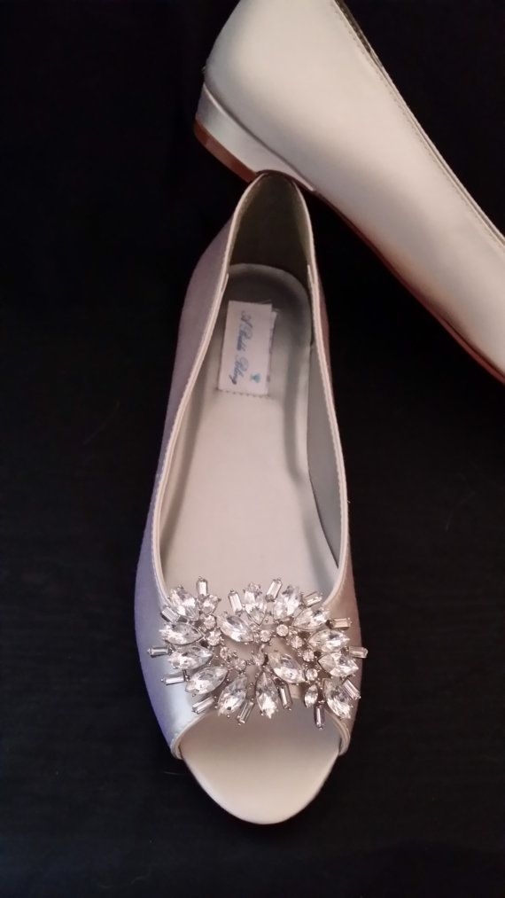 Wedding Shoes Kitten Heel Bridal Shoes by ABiddaBling