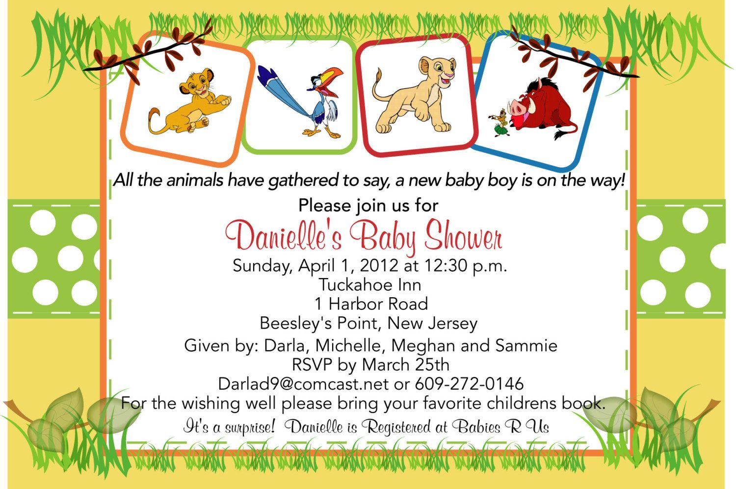 Lion King Baby Shower Invitation 9 00 Via Etsy
