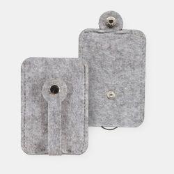 Kit filt nyckelfodral 8x15cm ljusgrå mel