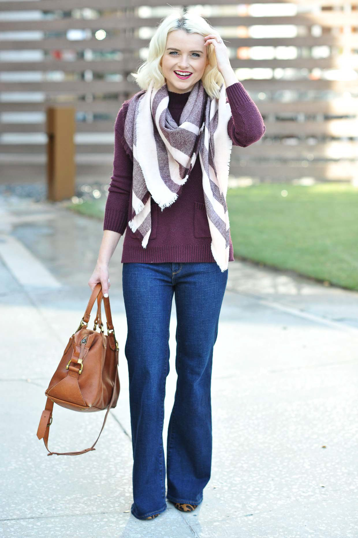 Burgundy Sweater and Scarf Under $100 | Burgundy sweater, Scarves ...