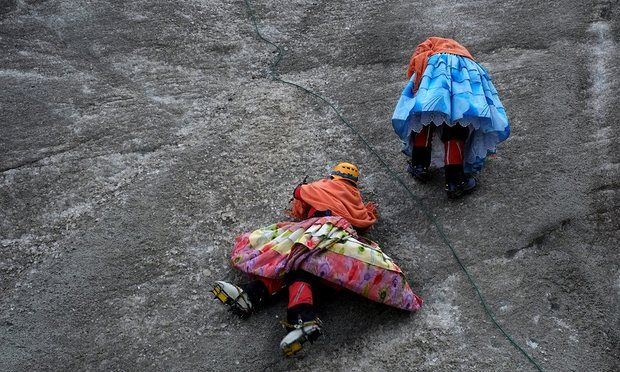 Bolivia's cholita climbers scale highest mountain yet: 'I cried ...