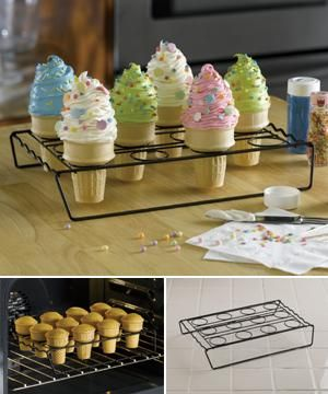 Cupcake Cone Baking Rack Okay I Want Two Of These Cupcake Cones