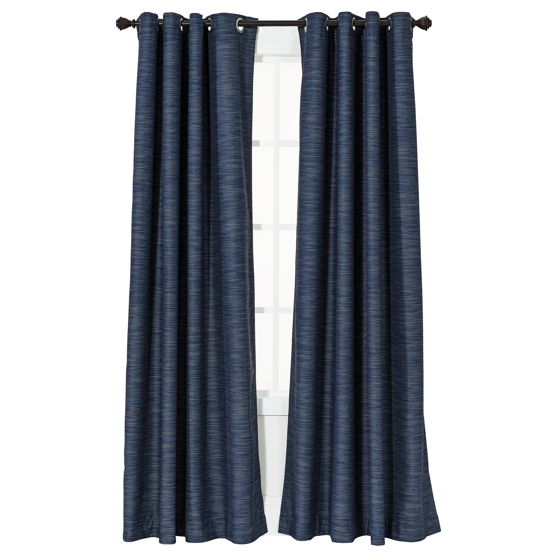 Threshold Uptown Stripe Light Blocking Curtain Panel Light Blocking Curtains Navy Blue Curtains Window Treatments Bedroom