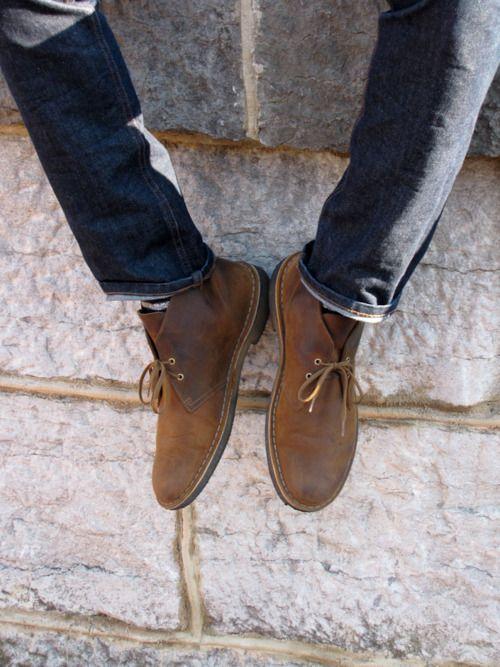 clarks desert boot black derby
