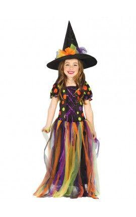 disfraz de bruja crculos de colores para nia