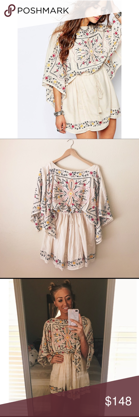 5ac93e9acd7 nwt free people batiste frida embroidered dress this is a nwt free people  sheer batiste frida