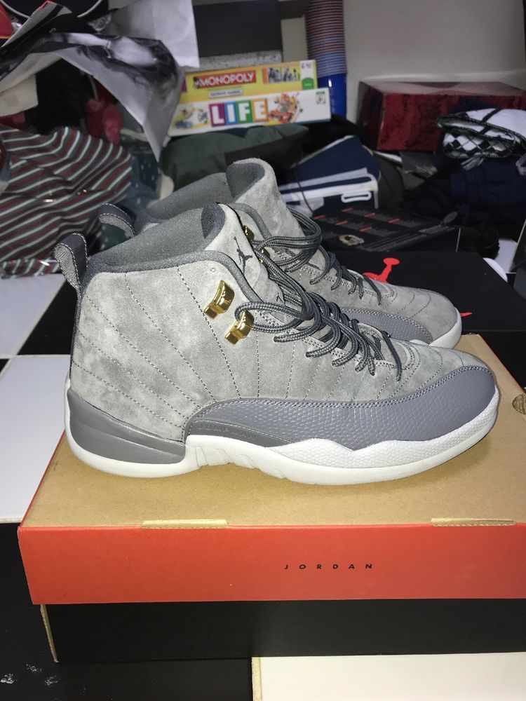 new style a4db7 52616 Nike Air Jordan 12 XII Retro Dark Grey Wolf Gray Suede 130690-005 Men s  Size 10  fashion  clothing  shoes  accessories  mensshoes  athleticshoes  (ebay link)