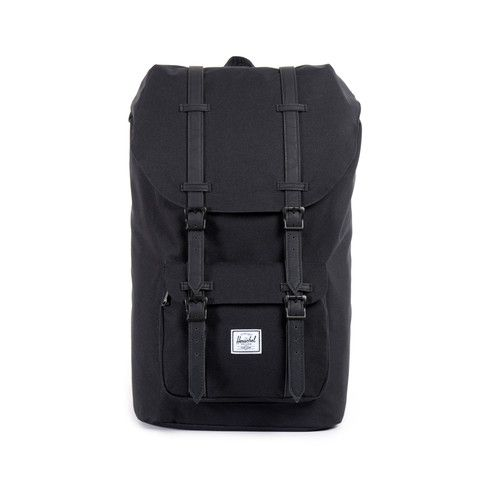 Herschel Little America Backpack Black/Black Synthetic Leather