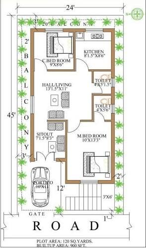 Image Result For 900 Sq Ft House Plans House Map Square House Plans 2bhk House Plan