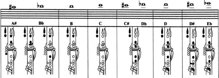 Clarinet Fingering Chart  Note    Clarinets And Pianos