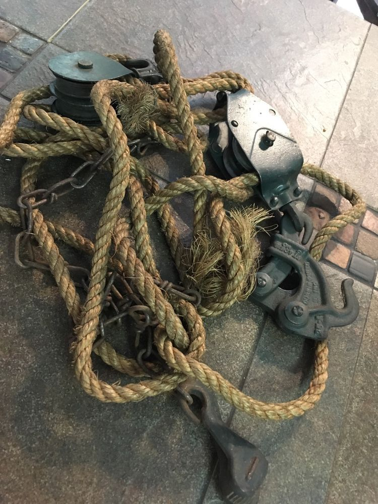 Vintage Durbin Block Tackle Wire Fence Stretcher Rope