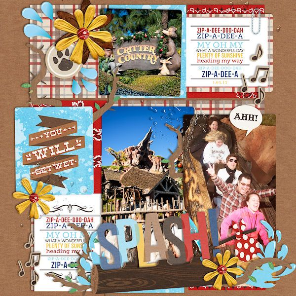"Critter Country Disney Splash Mountain digital page by wendy featuring ""Project Mouse: Frontier"" by Britt-ish Designs and Sahlin Studio"