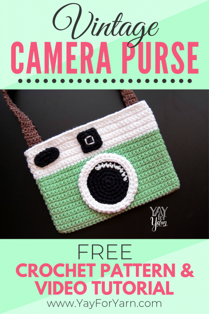 Vintage Camera Purse - Free Crochet Pattern | Yay For Yarn