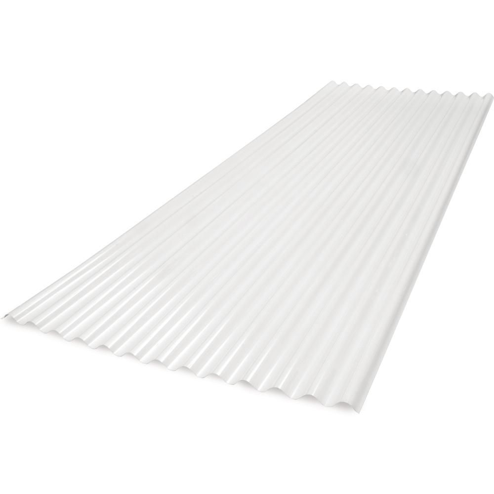 Sunsky 6 Ft Sunsky 2 67 Lp Polycarbonate Roof Panel In White Opal 174062 The Home Depot In 2020 Polycarbonate Roof Panels Plastic Roofing Corrugated Plastic Roofing